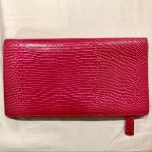 Lauren Ralph Lauren Snake Skin Pink Wallet